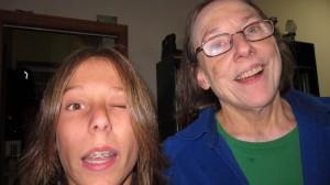 Zenon with Grandma Winking at the camera