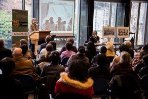 Laura Jones speaking at Catalysts for Change