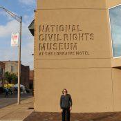 photo of Laura Jones at the National Civil Rights Museum by Bennett Jones Phillips